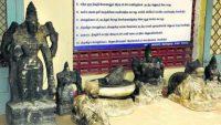 Many Smuggled Stone Idols found in Tamil Nadu