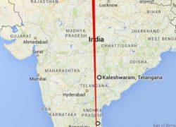 Ancient Siva Temples (Kedarnath to Rameswaram) on Straight Line