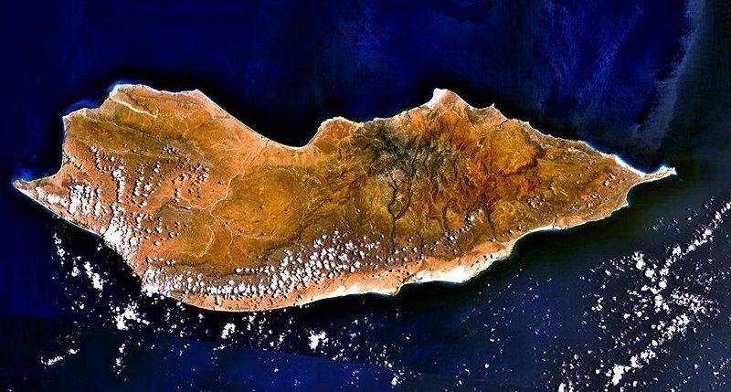 Socotra Island Satellite View