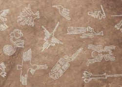 Nazca Lines in Desert of Southern Peru, Ancient Airport of KIng Mahabali