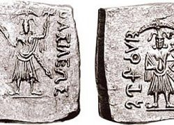Agathocles Dikaios, King of Bactria issued Hindu & Buddhist Coinage