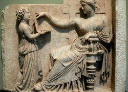 Ancient Greek Laptop on Gravestone with USB Ports !