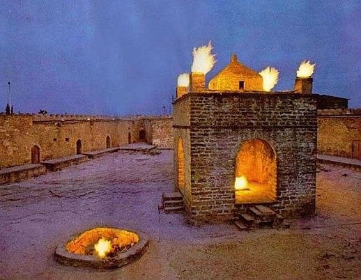 Ateshgah Fire Temple in Baku, Azerbaijan dedicated to ...