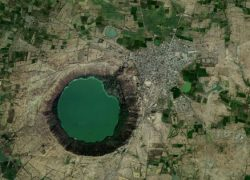 Lonar Crater Lake and Vishnu as Daityasudan in Skanda & Padma Purana