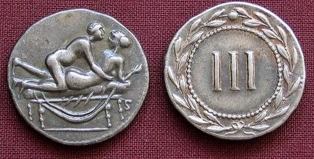 16PCs Caligula Ancient Roman Coin Spintria Brothel Erotic Sexual Token Reproduct