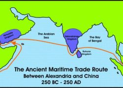 Ancient Maritime Route Between India, Egypt, Africa, China (350 BC)