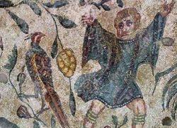 Vedic Tilak in Mosaics of Villa Romana del Casale, Sicily