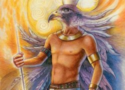 Egyptian God Horus similar to Garuda or Vishnu