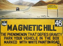 Magnetic Hill in Ladakh India