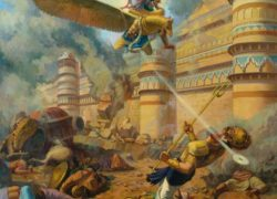 Narakasura killed by Vishnu, not Krishna or Satyabhama