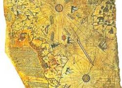 The Piri Reis Map on Gazelle Skin