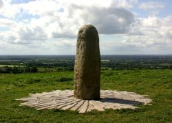 Stone of Destiny on Hill of Tara in Ireland (Ancient Siva Lingam)