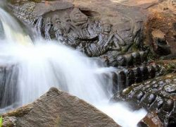 Kbal Spean, River with 1000 Siva Lingas in Cambodia