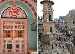 Ancient Hindu Temple at Mohalla Wangri Gran, Peshawar secretly demolished !