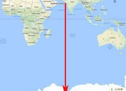 Somnath to Antarctica, straight line without land