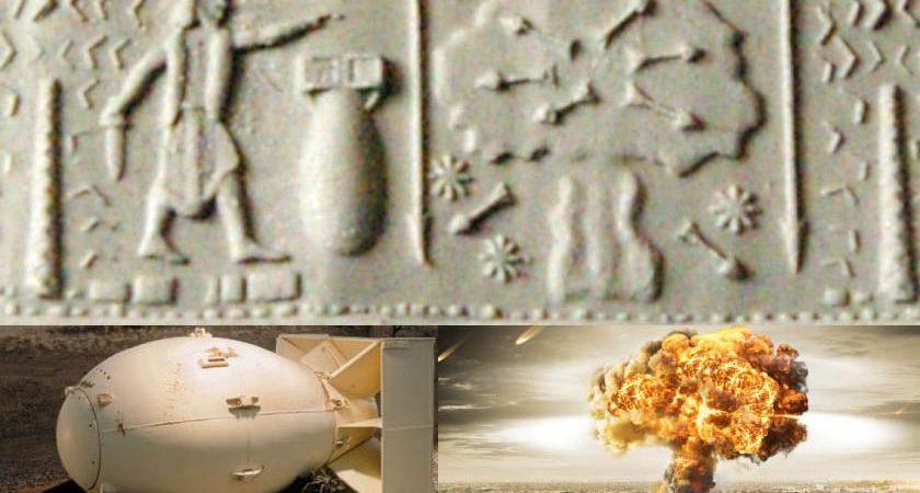 Nuclear Bomb in Babylon Cylindrical Seal (600 BCE)