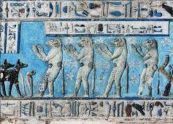 Vanaras in Temple of Hathor, Dendera, Egypt 2250 BCE