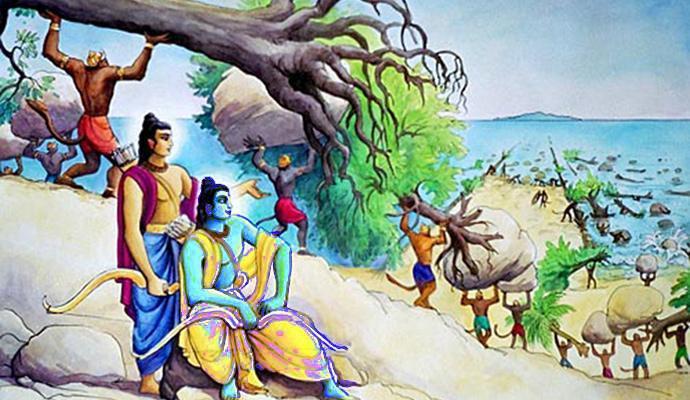 Vanaras used Trees & Rocks, not floating Stones to build Bridge to Lanka