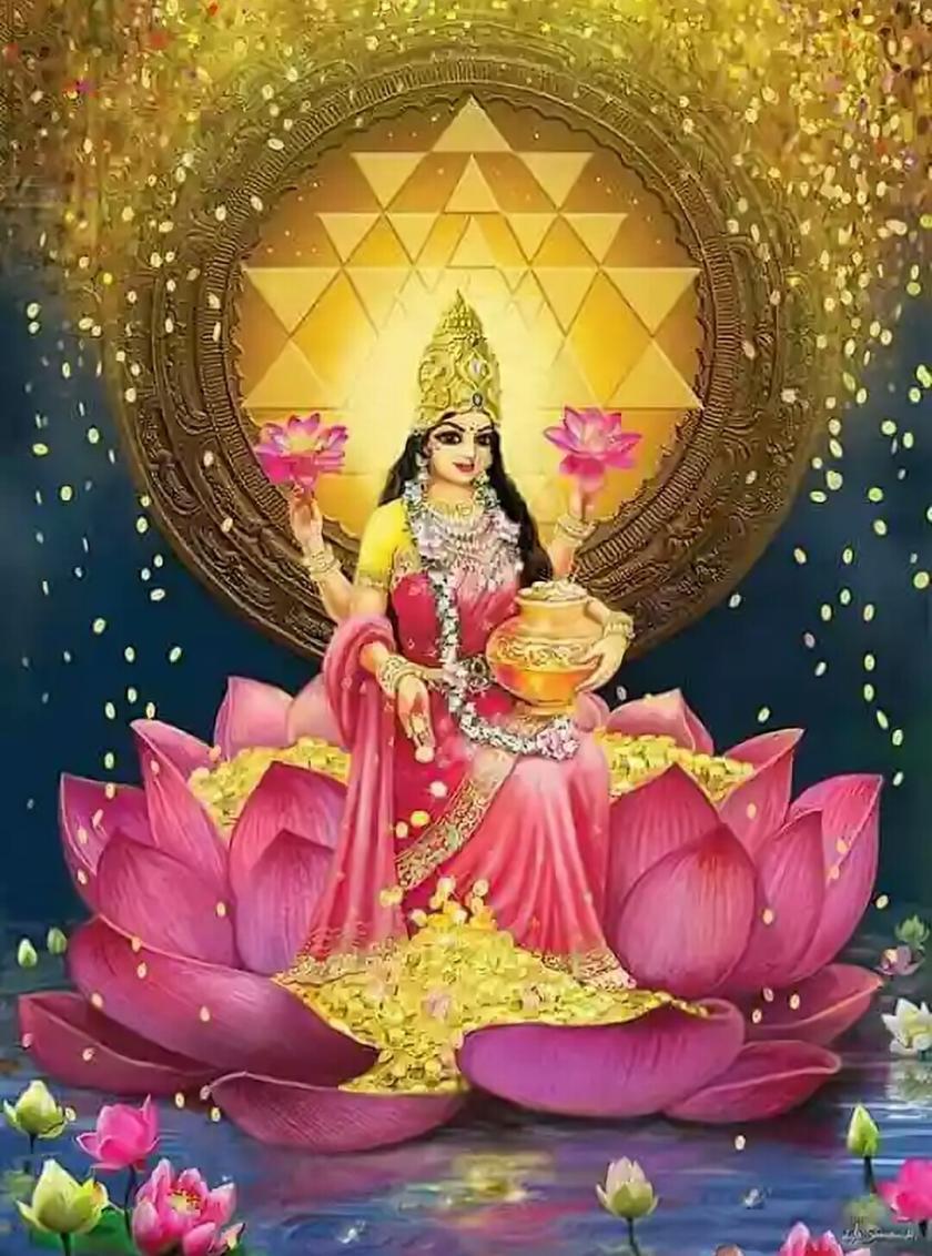 Significance Of Gods Goddesses On Lotus Flowers Mantra Sastra