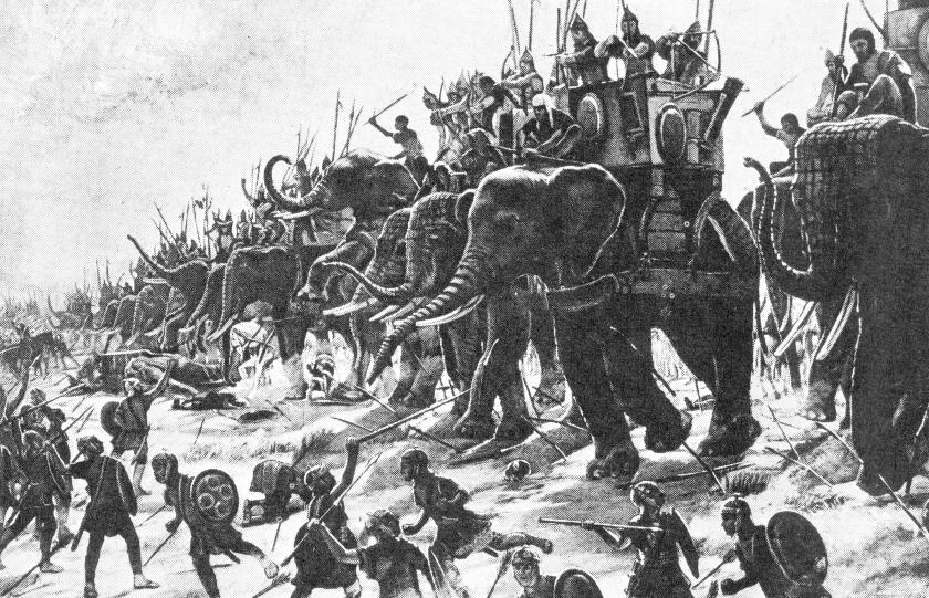 samudra gupta alexander war