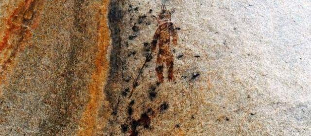 10000 years old Alien UFO cave painting