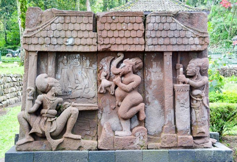 Candi Sukuh Arjuna Ganesha Bheema