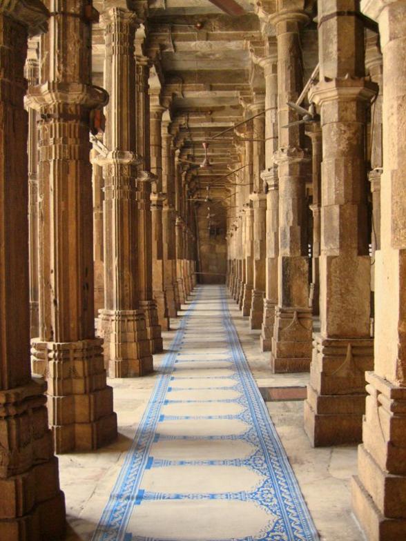 Jama Masjid Ahmedabad Bhadrakali Temple Pillars