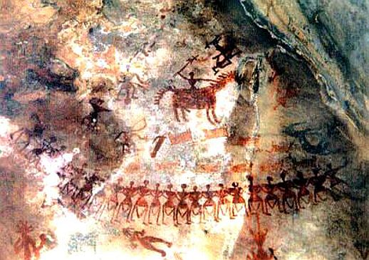40000 years cave painting india