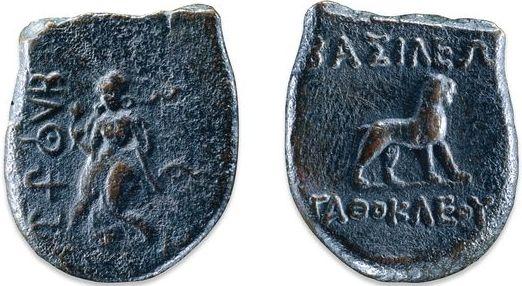 Agathocles Coins Lakshmi Lion