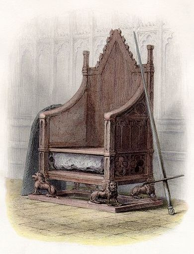 England Coronation Chair and Stone of Scone(1855)