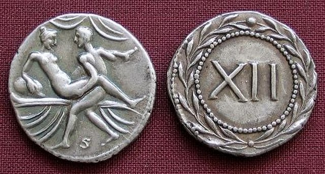 Spintriae Sexual Coins of ancient Rome 9
