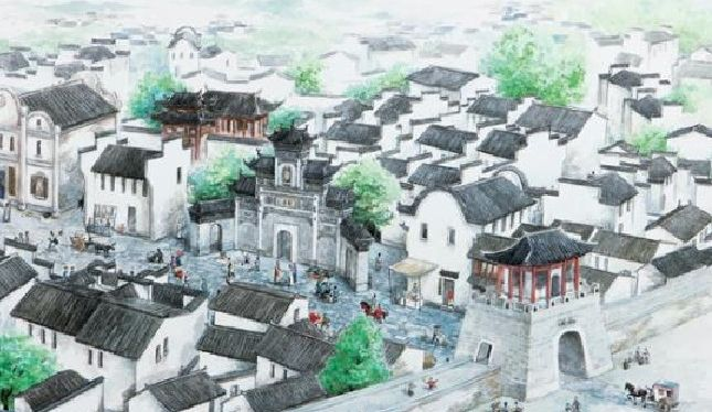 ancient Shicheng City map
