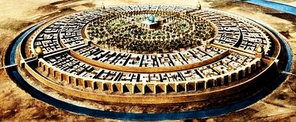 circular ancient baghdad city