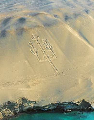 paracas trident peru topview