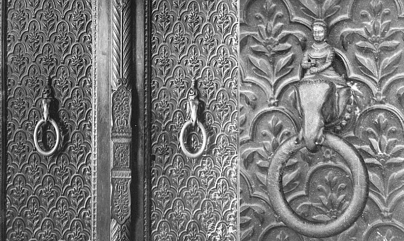 redfort mahavant elephant rider on door knobs