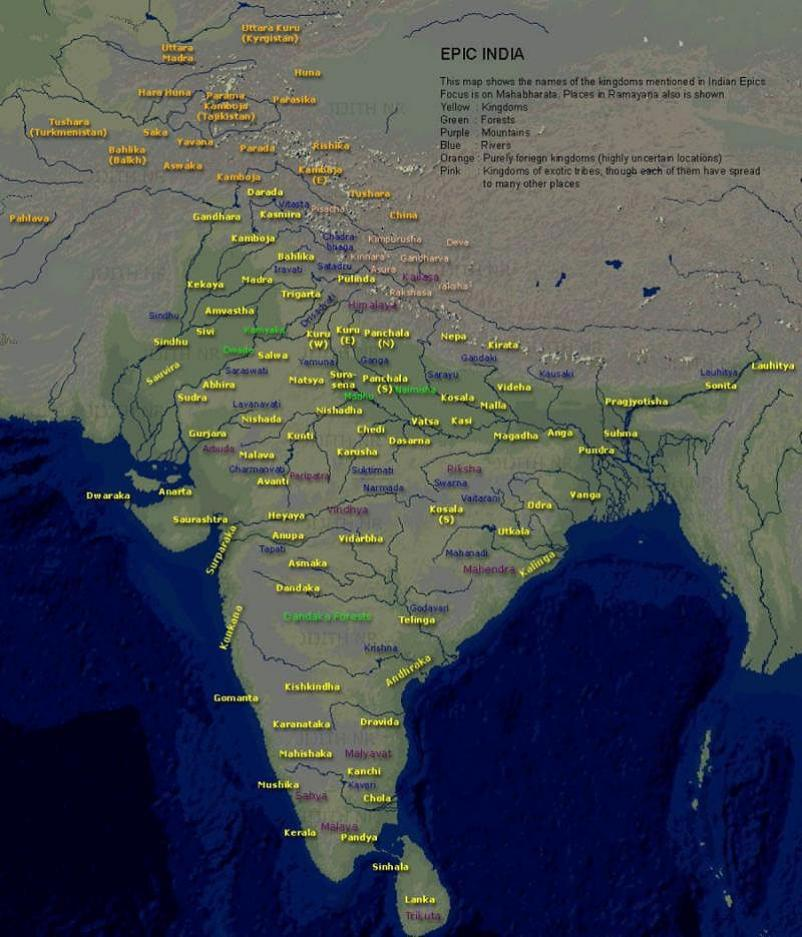 14 Countries during Mahabharata time