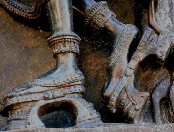 Platform Heels Madanika Feet in Ramappa Temple