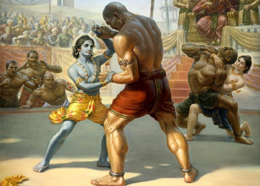 Chanura killed by Krishna