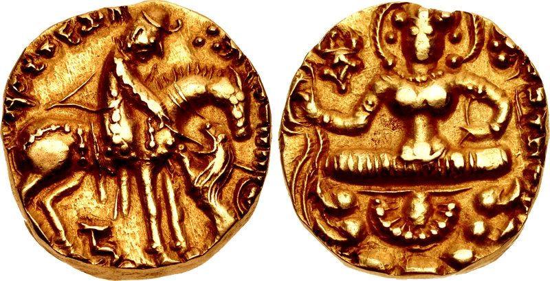 Toramana Kashmir King Gold Coins