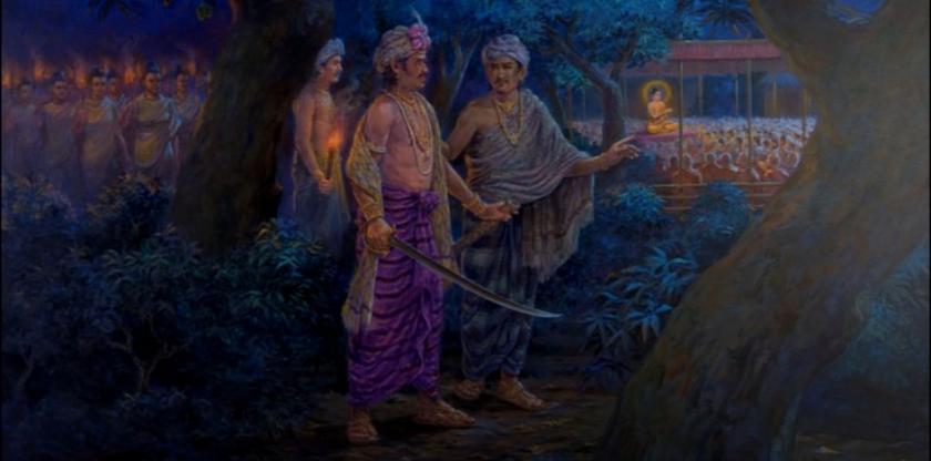Ajatasatru meets Buddha