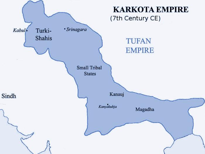 Kashmir Karkota Dynasty Empire