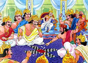 Mahabharata Pandavas Kauravas Dice Game