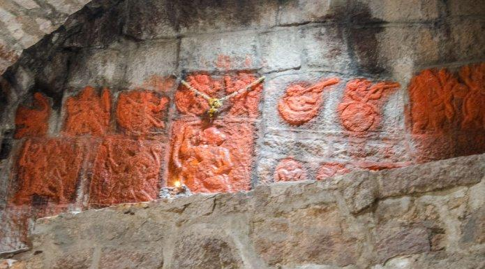 Ramadasu Carvings Golconda Jail