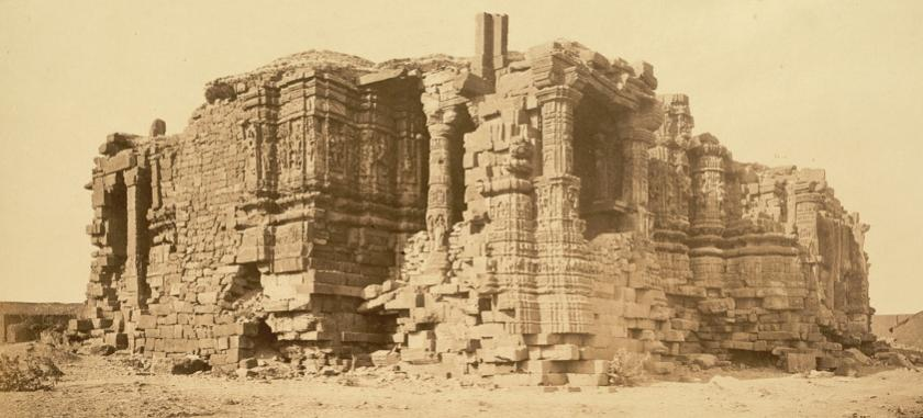 Somnath Temple ruins in 1869 CE
