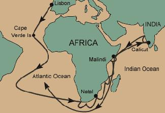 vasco da gama original sea route