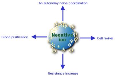 Negative Ion with water
