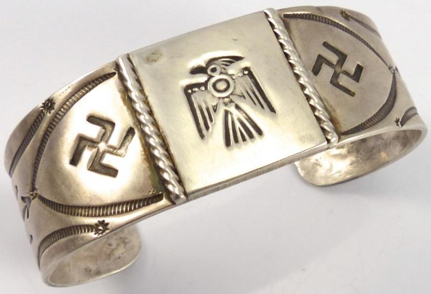 Swastika Thunderbird native american jewelry