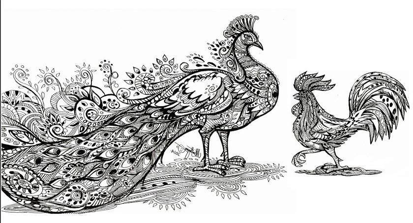 Karthikeya Peacock Cock