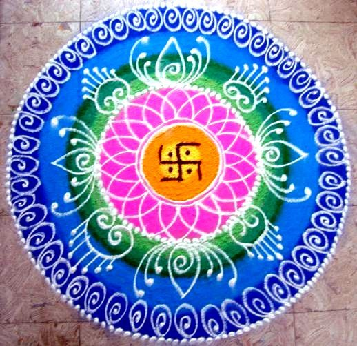 Rangoli mantra cymatics