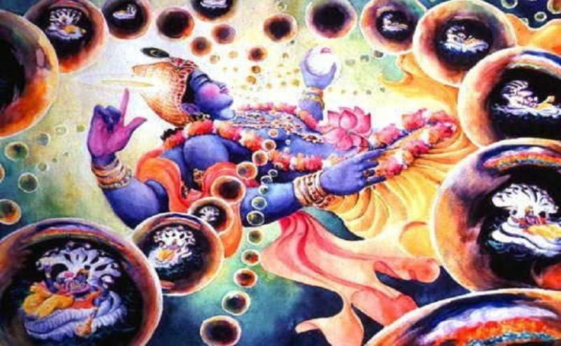 Narayana creating multiverses